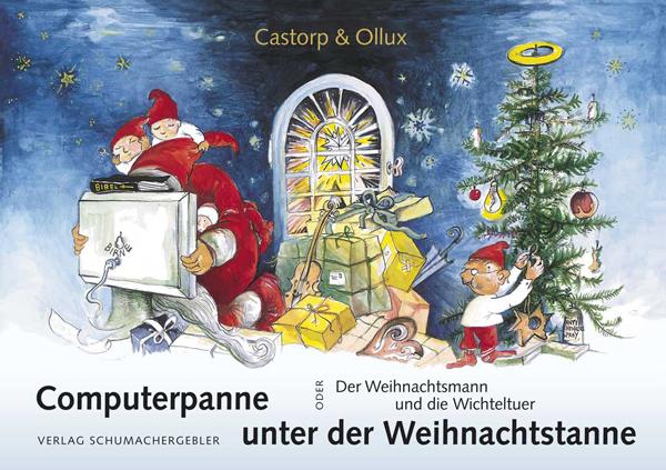 """Titelseite des Buchs """"Computerpanne unter der Weihnachtstanne"""""""