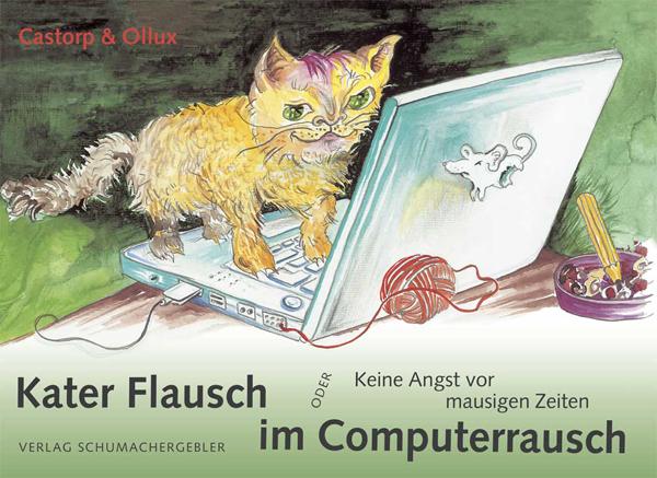 """Titelbild des Buchs """"Kater Flausch im Computerrausch"""""""